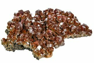 "3.2"" Large, Ruby Red Vanadinite Crystal Aggregation - Morocco For Sale, #104759"