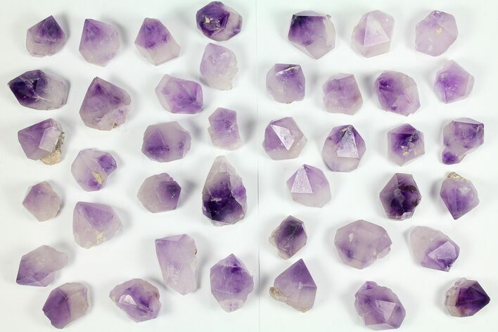 Wholesale Lot: Amethyst Crystal Points - 41 Pieces - Morocco