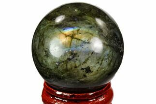 "1.45"" Flashy, Polished Labradorite Sphere - Great Color Play For Sale, #105770"