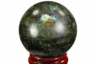 "Buy 1.6"" Flashy, Polished Labradorite Sphere - Great Color Play - #105787"