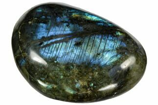 "3.2"" Flashy, Polished Labradorite Pebble - Madagascar For Sale, #105884"