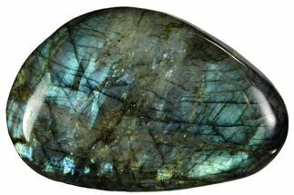 "4.5"" Flashy, Polished Labradorite Pebble - Madagascar For Sale, #105893"