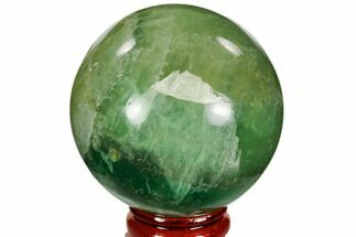 "2.3"" Polished Green Fluorite Sphere - Madagascar For Sale, #106286"