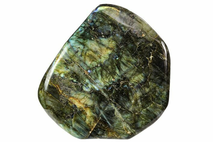 "6.5"" Flashy, Free-Standing, Polished Labradorite - Madagascar"