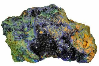 "Buy 3.6"" Sparkling Azurite Crystals With Malachite - Laos - #107200"