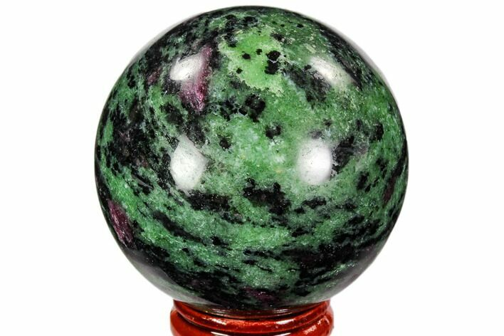 "2.2"" Polished Ruby Zoisite Sphere - Tanzania"