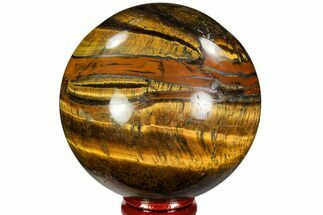 "Buy 2.95"" Polished Tiger's Eye Sphere - Africa - #107311"