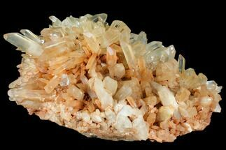 "Large, 14.5"" Wide Tangerine Quartz Crystal Cluster - Madagascar For Sale, #107084"
