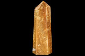 "Buy 9.7"" Polished, Orange Calcite Obelisk - Madagascar - #108469"