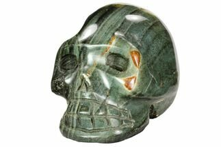 "3.9"" Polished, Polychrome Jasper Skull - Madagascar For Sale, #108356"