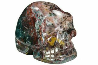 "4.5"" Polished Colorful Jasper Skull - Madagascar For Sale, #108359"
