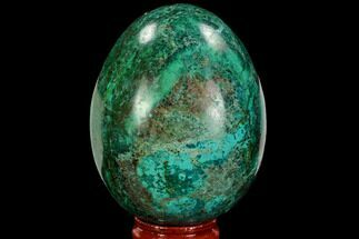 "Buy 2.9"" Polished Chrysocolla & Malachite Egg - Peru - #108808"