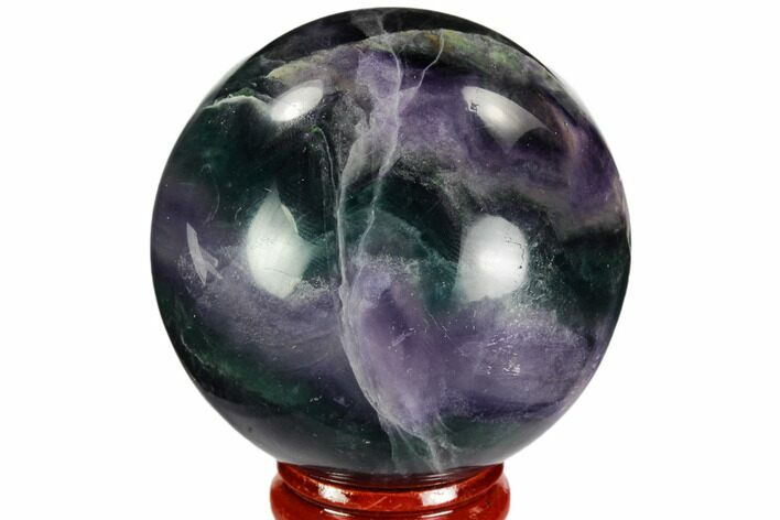 "2.2"" Colorful, Banded Fluorite Sphere - China"