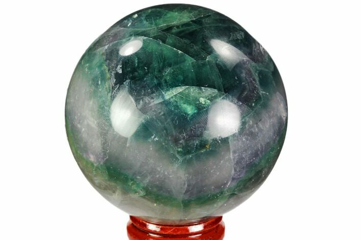 "2.5"" Colorful, Banded Fluorite Sphere - China"