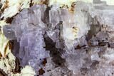 "12.5"" Purple, Cubic, Fluorite with Barite (47 lbs) - Morocco - #110563-6"