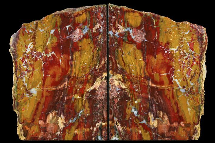 "9.5"" Red/Yellow Jasper Replaced Petrified Wood Bookends - Oregon"