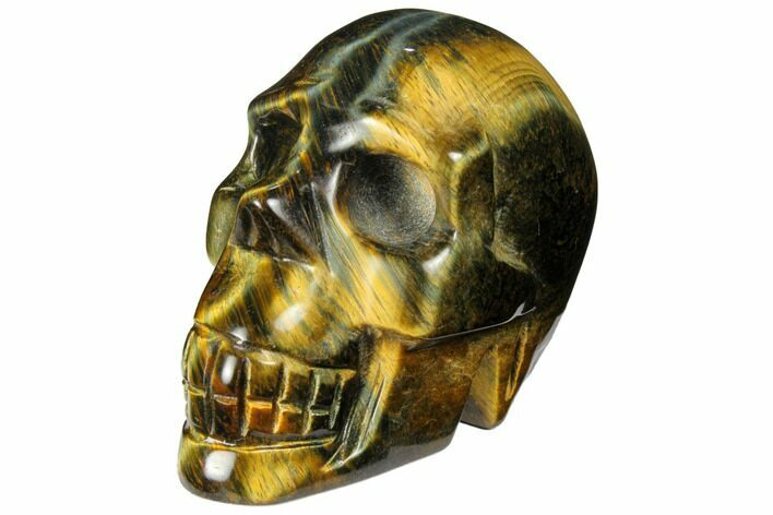"2.5"" Polished Tiger's Eye Skull - Crystal Skull"