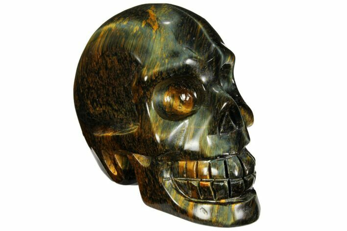 "2.6"" Polished Blue Tiger's Eye Skull - Crystal Skull"