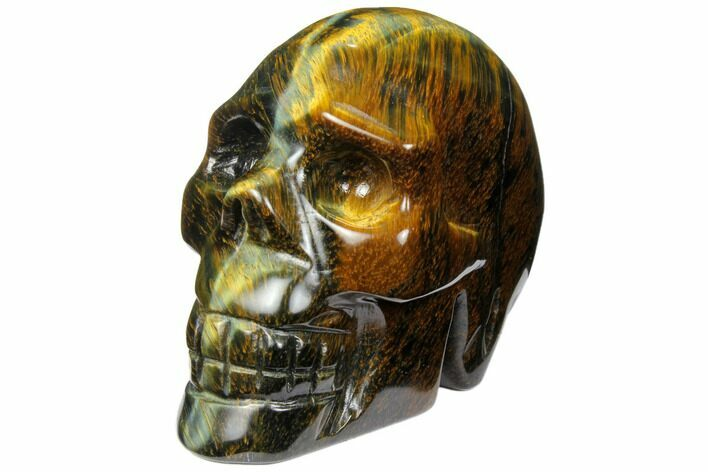 "2.55"" Polished Tiger's Eye Skull - Crystal Skull"