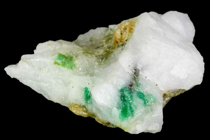 "1.3"" Beryl (Var. Emerald) in Calcite - Khaltoru Mine, Pakistan"