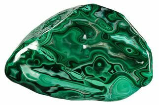 "5.1"" Polished Malachite Specimen - Congo For Sale, #112160"