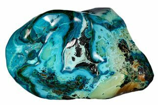 "3.6"" Polished Botryoidal Chrysocolla and Malachite - Congo For Sale, #112166"