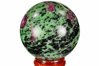 "2.1"" Polished Ruby Zoisite Sphere - Tanzania For Sale, #112505"
