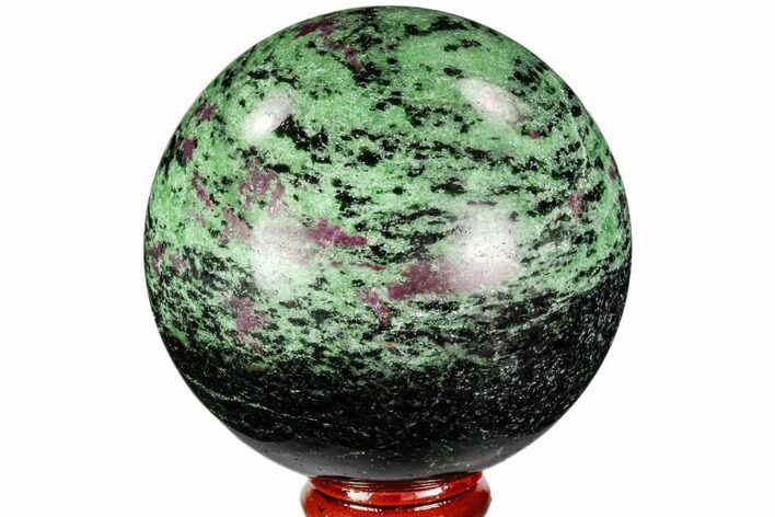 "2.8"" Polished Ruby Zoisite Sphere - Tanzania"