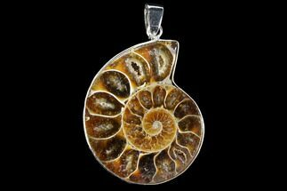 "1.4"" Fossil Ammonite Pendant - 110 Million Years Old For Sale, #112463"