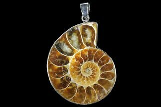 "Buy 1.6"" Fossil Ammonite Pendant - 110 Million Years Old - #112468"
