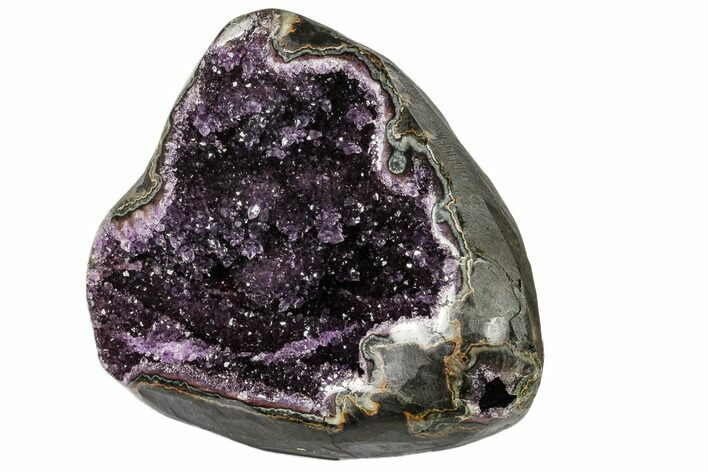 "9"" Purple Amethyst Geode with Polished Face - Uruguay"