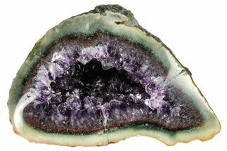 "Buy 7.3"" Purple Amethyst Geode with Polished Face - Uruguay - #113857"