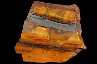 "Buy 4.1"" Marra Mamba Tiger's Eye Slab - Mt. Brockman (2.7 Billion Years) - #114424"