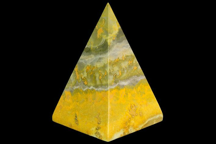 "2.9"" Polished Bumblebee Jasper Pyramid - Indonesia"