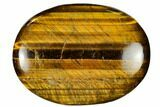 "2.9"" Polished Tiger's Eye Palm Stone - South Africa - #115555-1"