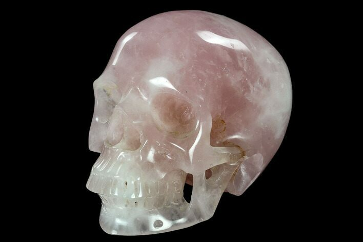 "6.9"" Polished Brazilian Rose Quartz Crystal Skull"