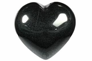 "Buy 1.4"" Polished Hematite Hearts - #116329"