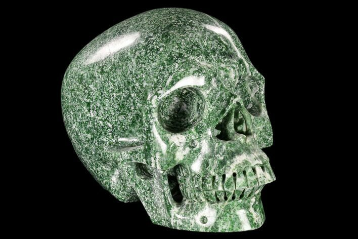 "7"" Realistic, Polished Hamine Jade Skull - India"