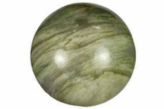 ".9"" Polished Green Hair Jasper Sphere For Sale, #116615"