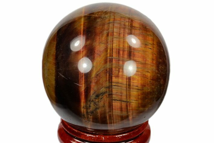"1.6"" Polished Red Tiger's Eye Sphere - South Africa"
