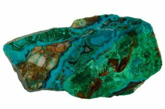 "Buy 2.9"" Polished Chrysocolla & Plume Malachite - Bagdad Mine, Arizona - #114274"