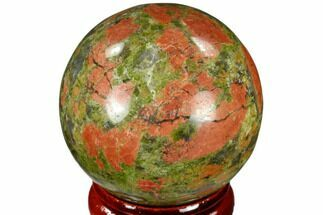 "Buy 1.55"" Polished Unakite Sphere - Canada - #116125"