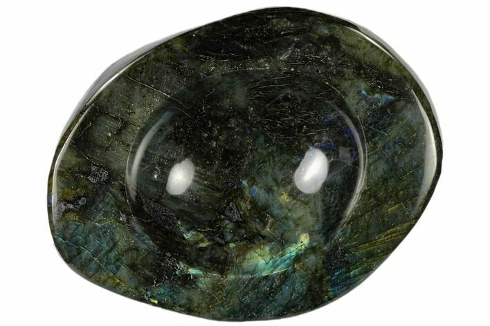 "7.7"" Polished, Flashy Labradorite Bowl - Madagascar"