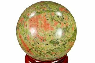 "1.55"" Polished Unakite Sphere - Canada For Sale, #116138"