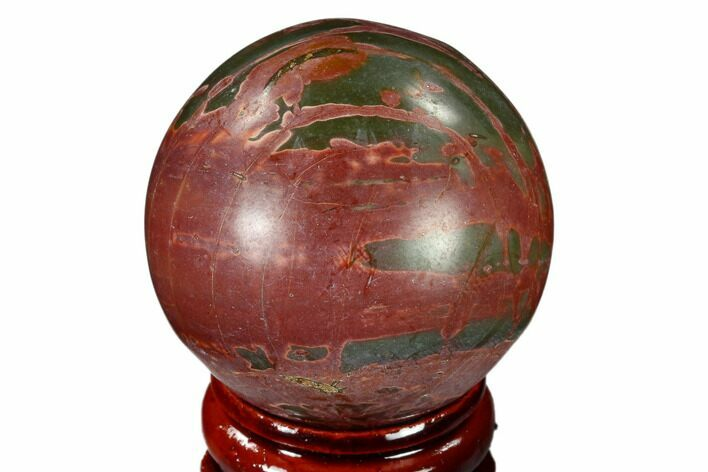 "1.55"" Polished Cherry Creek Jasper Sphere - China"