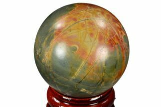 "1.55"" Polished Cherry Creek Jasper Sphere - China For Sale, #116225"