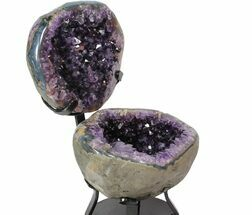 "Buy 8.3"" Amethyst ""Jewelry Box"" Geode On Metal Stand - Uruguay - #116281"