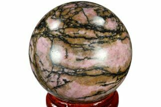 "1.6"" Polished Rhodonite Sphere - India For Sale, #116174"