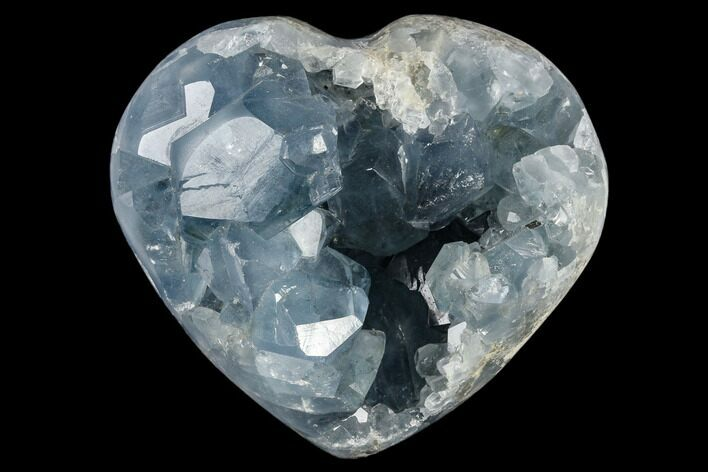 "3.2"" Crystal Filled Celestine (Celestite) ""Heart"" Geode - Madagascar"