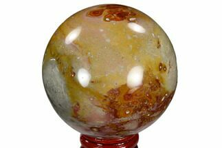 "Buy 2.5"" Polished Polychrome Jasper Sphere - Madagascar - #118126"